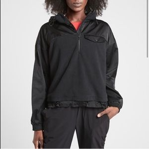 Athleta Zion Micro Fleece Zip Sweater Jacket